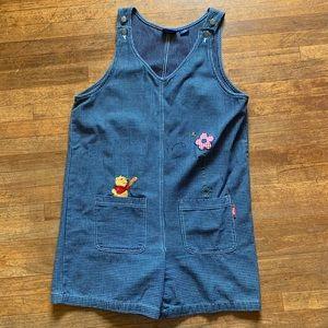 VTG Disney Winnie The Pooh Short Overalls